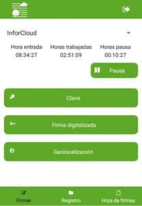 app móvil para firmar en el campo